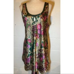 Vintage Floral Satin Nightgown Slip
